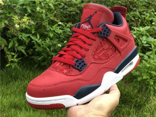 Jordan 4 FIBA Gym Red CI1184-617 on hand look