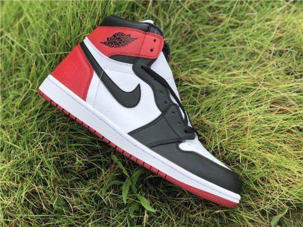 Air Jordan 1 Black Toe White Black-Gym Red