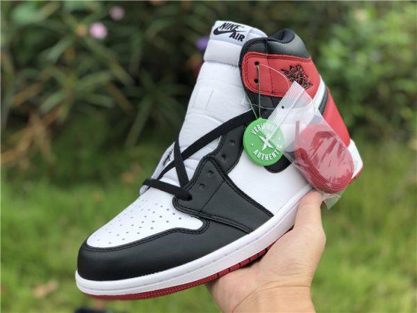 Air Jordan 1 Black Toe White Black-Gym Red on hand