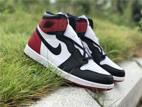 Air Jordan 1 Black Toe White Black-Gym Red shoes