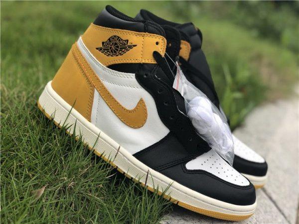 Air Jordan 1 Five MVP Awards Yellow Ochre shoes