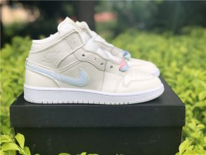 Air Jordan 1 Mid Grey Phantom Cotton-candy
