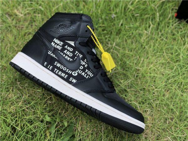 Air Jordan 1 Nike Swoosh Pack in Black for sale
