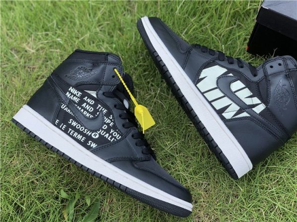 Air Jordan 1 Nike Swoosh Pack in Black sneaker