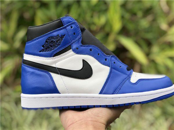 Air Jordan 1 White Royal Blue swoosh