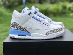 Air Jordan 3 UNC PE White University Blue