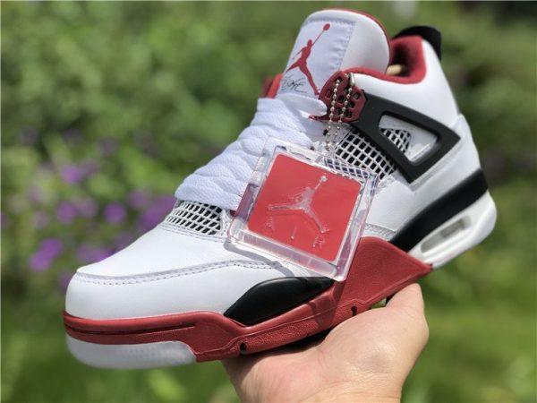Air Jordan 4 IV Fire Red with Jumpman Logo shoes