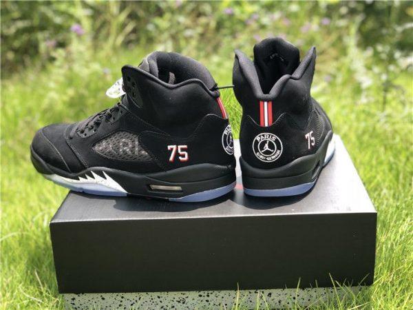 Air Jordan 5 BCFC Paris Saint-Germain PSG heel