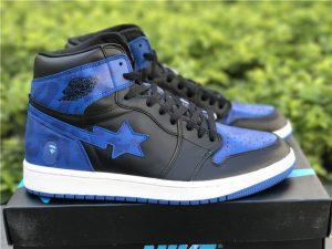 BAPE Air Jordan 1 Royal Blue Black
