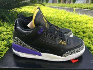 Black Nike Air Jordan 3 Lakers Kobe Bryant Pack panel
