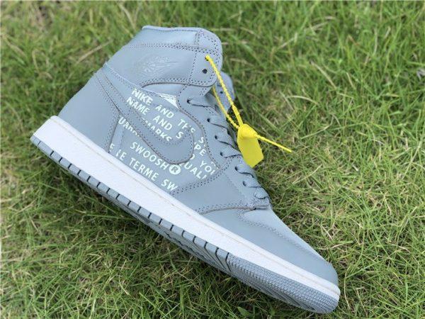 Grey Nike Air Jordan 1 Nike Swoosh Pack sneaker