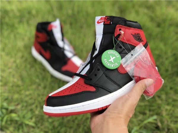 Jordan 1 Homage To Home Black Red White on hand