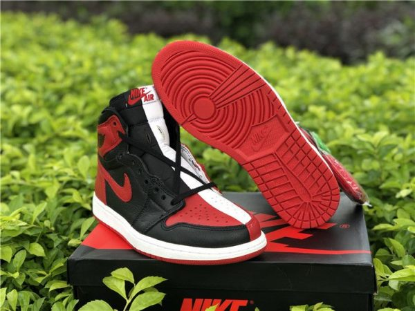 Jordan 1 Homage To Home Black Red White shoes