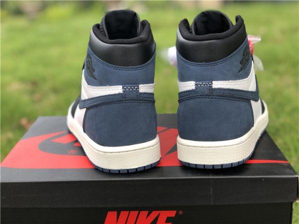Jordan 1 Retro High Blue Moon heel