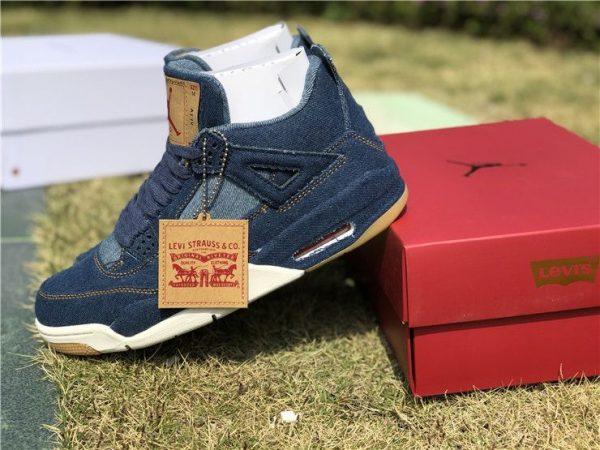 Jordan 4 Retro Leevis Denim Tag with Leevis Logo sneaker