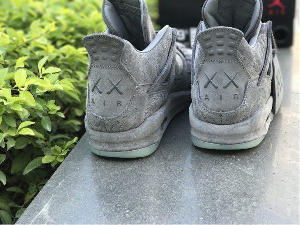 KAWS x Air Jordan 4 Cool Grey heel