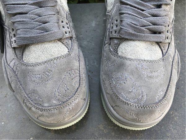KAWS x Air Jordan 4 Cool Grey toe look