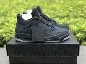 KAWS x Air Jordan 4 in Black