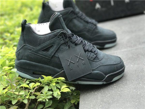 KAWS x Air Jordan 4 in Black shoes