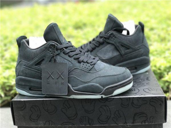 KAWS x Air Jordan 4 in Black sneaker