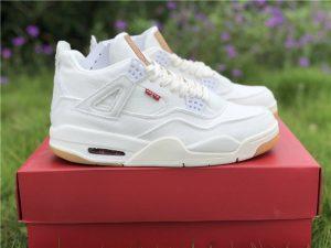 Leevis x Air Jordan 4 White Denim