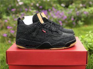 Leewis x Air Jordan 4 Black Denim