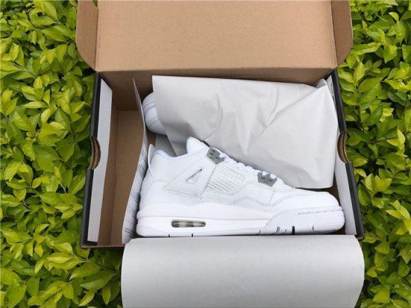 Mens Womens Air Jordan 4 Pure Money in box