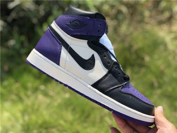 New Air Jordan 1 Court Purple 2018 swoosh