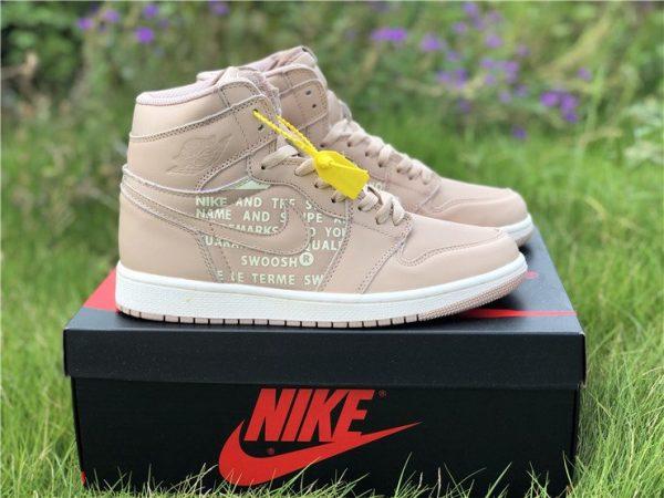 Nike Air Jordan 1 Nike Swoosh Beige