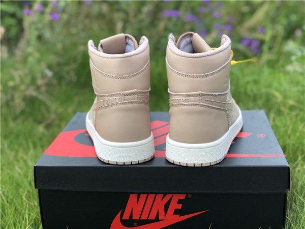 Nike Air Jordan 1 Nike Swoosh Beige heel