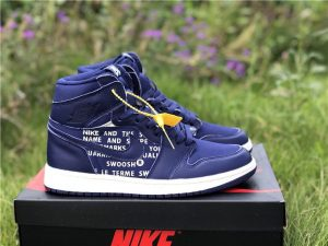 Nike Air Jordan 1 Nike Swoosh Blue