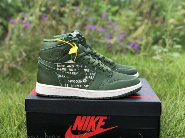 Nike Air Jordan 1 Nike Swoosh Olive