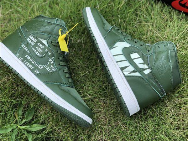 Nike Air Jordan 1 Nike Swoosh Olive for sale