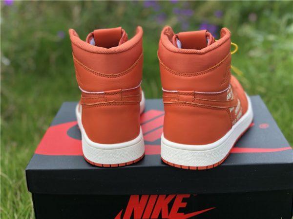 Nike Air Jordan 1 Nike Swoosh Orange heel