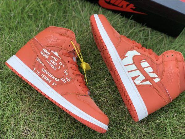 Nike Air Jordan 1 Nike Swoosh Orange sneaker