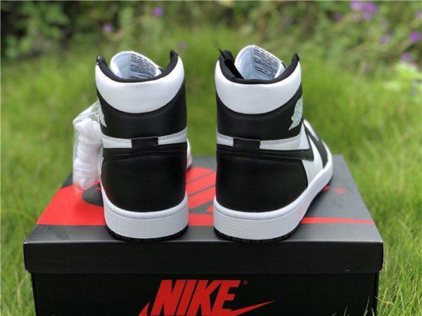 Nike Air Jordan 1 Retro High Black White heel