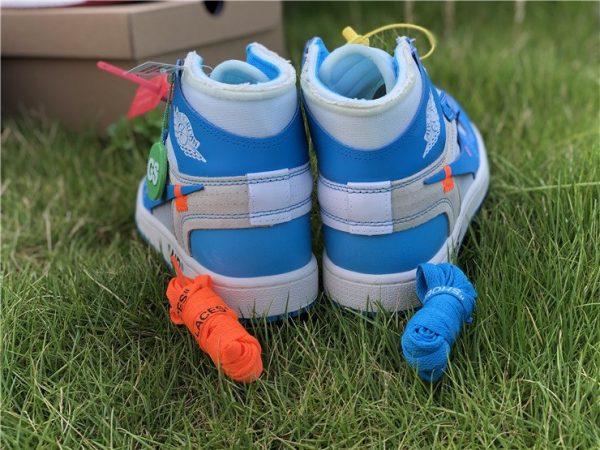 Off-White Air Jordan 1 UNC University Blue shoelaces