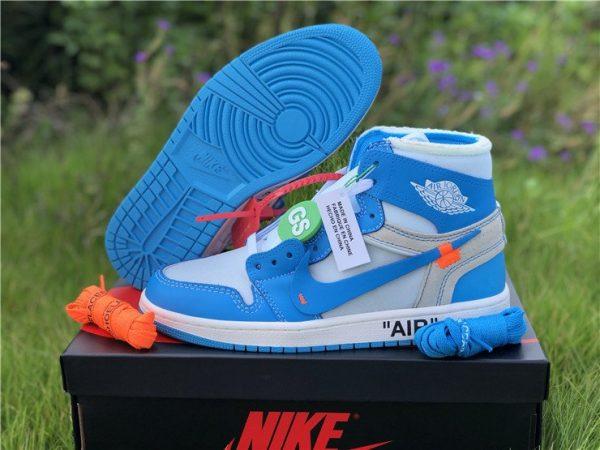 Off-White Air Jordan 1 UNC University Blue shoes