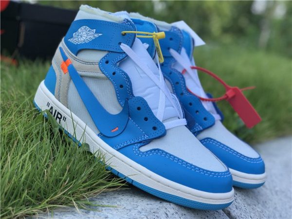 Off-White Air Jordan 1 UNC University Blue sneaker