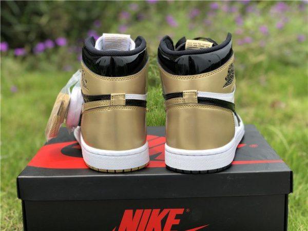 Top 3 Air Jordan 1 High NRG Black Gold back