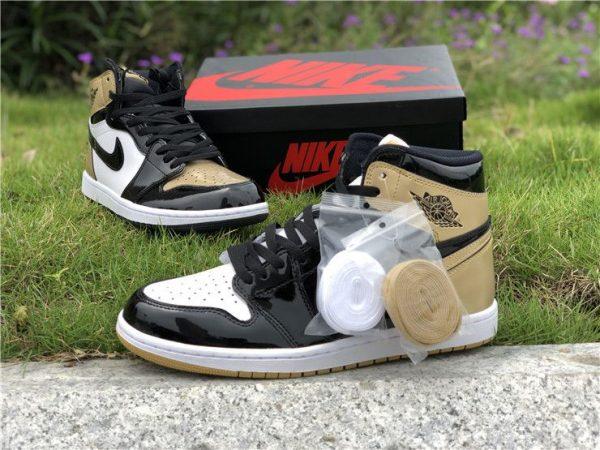 Top 3 Air Jordan 1 High NRG Black Gold laces