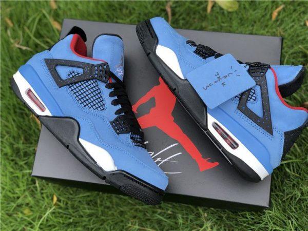 Travis Scott Air Jordan 4 Houston Oilers shoes