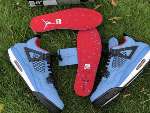 University Blue Air Jordan 4 Houston Oilers for sale