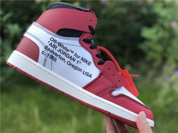 Virgil Abloh Nike Air Jordan 1 Chicago off whtie words