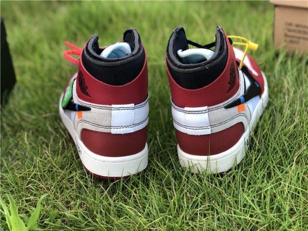 Virgil Abloh Nike Air Jordan 1 Off-White Chicago heel