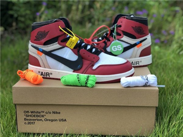 Virgil Abloh Nike Air Jordan 1 Off-White Chicago laces
