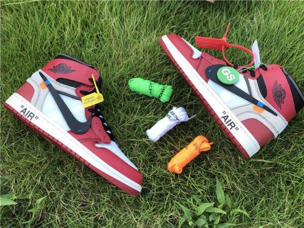 Virgil Abloh Nike Air Jordan 1 Off-White Chicago panels
