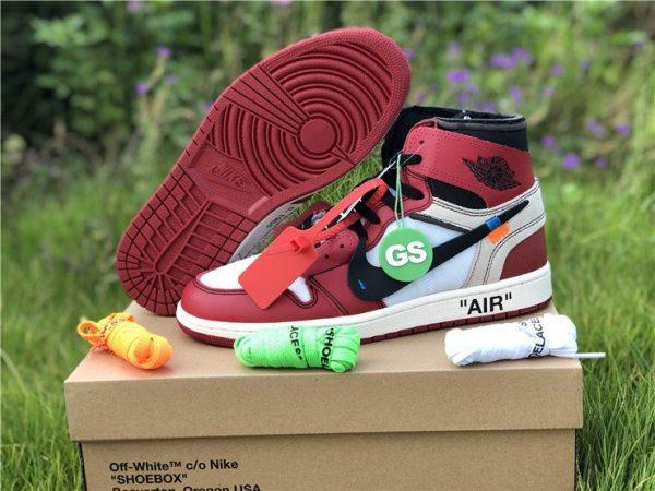 Virgil Abloh Nike Air Jordan 1 Off-White Chicago sneaker