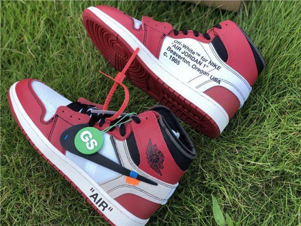 Virgil Abloh Nike Air Jordan 1 Off-White Chicago swoosh