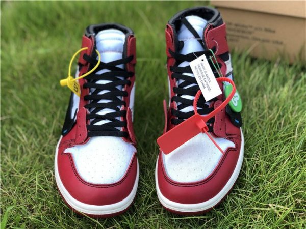 Virgil Abloh Nike Air Jordan 1 Off-White Chicago toe